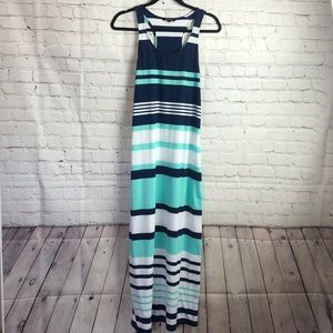 Just Love. Striped racer back maxi sun dress